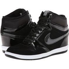 Olivia Munn wearing Nike Force Sky High Wedge Sneakers