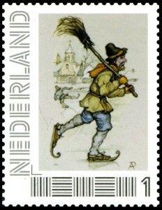 Anton Pieck 2011-2 Anton Pieck, Vintage Stamps, Vintage Images, Painting & Drawing, Netherlands, Holland, Illustration Art, Drawings, Artist