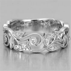 Buy Exquisite Charm Women's 925 Sterling Silver Floral Ring Diamond Flower Lucky Vine Leaf Cocktail Jewelry Proposal Gift Rings Bridal Wedding Band Size 6 7 8 9 10 at Wish - Shopping Made Fun Jewelry Rings, Jewelry Accessories, Gemstone Jewelry, Flower Jewelry, Gold Jewelry, Bridal Accessories, Antique Jewelry, Fine Jewelry, Anniversary Rings
