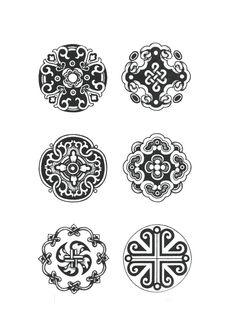 Если обо всех орнаментах, которые я использовала до этого, я знала хотя бы что то, и отталкивалась в первую очередь от того, что было уже известно, то монгольский… Chinese Patterns, Celtic Designs, Grafik Design, Arabesque, Chinese Art, Asian Art, Japanese Art, Art Lessons, Design Elements