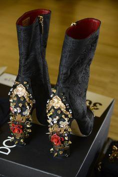 Dolce & Gabbana Woman Runway Backstage Photo Gallery – Spring Summer 2015 high heels #jewels