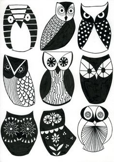 Owls, possibly going to draw these cause their awesome!