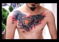 cover up tattoo eagle tattoo