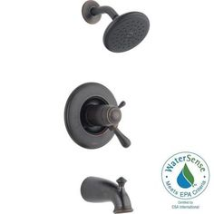 Delta Leland TempAssure 17T Series 1-Handle Tub and Shower Faucet Trim Kit Only in Venetian Bronze (Valve Not Included)-T17T478-RB - The Home Depot