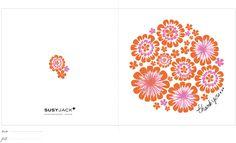 Perty thank you card [create] | ballarddesigns.com