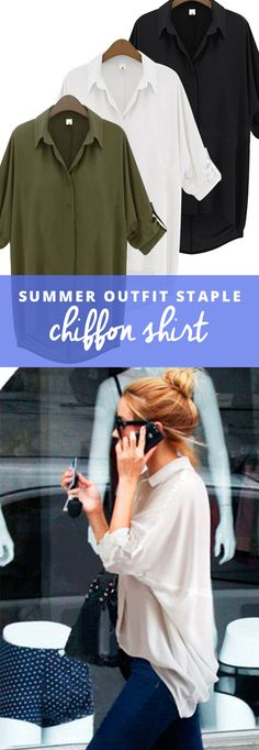 Meet your new closet staple you can wear every season. This super flattering high-low chiffon top is versatile, office appropriate, comes in 3 neutral colors for mixing and matching, and features a relaxed silhouette you'll love throwing on for an easy put-together look.