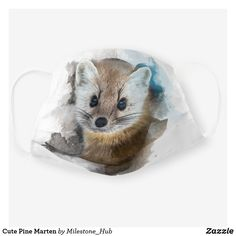 Cute Pine Marten Cloth Face Mask Pine Marten, Just Because Gifts, Birthday Gifts For Boyfriend, Forest Animals, Snug Fit, Sensitive Skin, First Love, Birthday Ideas, Face