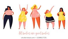 Multiracial women of different height and same figure type and plus size. Body positive movement and beauty diversity. Female Cartoon Characters, Plus Size Art, App Design Inspiration, Class Design, Nice Body, Royalty Free Photos, New Pictures, Illustration, Aurora Sleeping Beauty