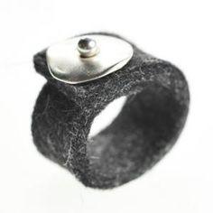 lijelove Filzringe, 04-001C, Stone, anthrazit, Ringgröße 17 (S) - http://schmuckhaus.online/lijelove/lijelove-filzringe-04-001c-stone-anthrazit-17-s