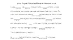 Need an easy game for a kids' Halloween party? Try this fun, spooky fill-in-the-blank story. See the full print-out here: http://bit.ly/1zLkT6y
