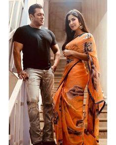 salmankhan and katrinakaif 🧡 bharat movie promotions fashion saree katrina beingsalmankhan salman bollywood superstar amazing bollywoodbuzz btown celebrities