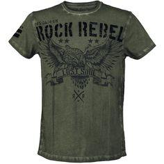 "Rock Rebel by EMP T-Shirt ""Lost Soul"" olive • EMP"