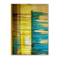 "Trademark Art ""The Waterfall"" by Nicole Dietz Painting Print on Wrapped Canvas Size:"