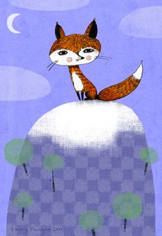 Terry Runyan: fox alone on the hill
