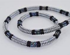 Ndebele Stitch Beadwork Necklace Pearl by SilverspotMetalworks