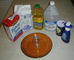 What You Will Need for the Volcano 3 cups flour 1 cup salt 1 cup water 2 tablespoons cooking oil empty drink bottle deep plate or a pan gel food coloring dishwashing detergent baking soda (sodium bicarbonate) vinegar (dilute acetic acid) Diy Volcano Projects, Science Projects, Projects For Kids, Crafts For Kids, Fair Projects, School Projects, Craft Projects, Volcano For Kids, Making A Volcano