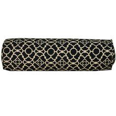 Jiti Pillows Moroccan Outdoor Neckroll Decorative Pillow in Black - - MOR-BLK