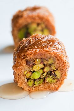 Baklava with Nuts & Honey . delicious dessert and a delicious Greek breakfast in my tummy! Lebanese Desserts, Lebanese Recipes, Turkish Recipes, Greek Recipes, Persian Recipes, Lebanese Baklava Recipe, Arabic Dessert, Arabic Food, Arabic Sweets