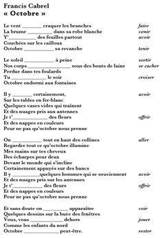 "Music: Francis Cabrel's ""Octobre"" and the Futur Simple | En Francais, Classe!"