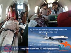 Do you want to shift your patients to a selected hospital outside of Mumbai or Kolkata as soon as possible? If you want this emergency services, of course, contact Vedanta Air Ambulance which provides good facilities at a very low cost. Web@ https://goo.gl/yK3eQf More@ https://goo.gl/RMG9PB
