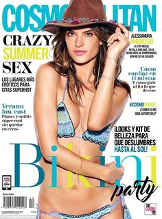 Brazilian bombshell: On Monday, Alessandra also showed off her newest magazine…