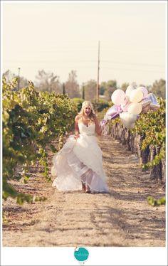 Walking through vinyard for first look