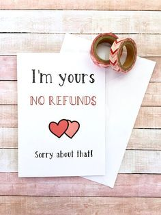 For Boyfriend For Boyfriend anniversary For Boyfriend birthday For Boyfriend diy For Boyfriend to buy For Boyfriend valentines I'm Your No Refund Funny Valentine Card 5 Senses Gift For Boyfriend, Creative Gifts For Boyfriend, Diy Gifts For Men, Valentines Gifts For Boyfriend, Valentine Day Cards, Boyfriend Card, Valentines Ideas For Him, Birthday Cards For Boyfriend, Diy Anniversary Cards For Boyfriend
