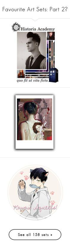"""""""Favourite Art Sets: Part 2💛"""" by nattiexo ❤ liked on Polyvore featuring art, anime, manga, haikyuu, kageyamatobio, artset, artexpression, bleach, ToshiroHitsugaya and naruto"""