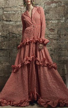Rosie Assoulin Resort 2017 Twisted Ruffle Drawstring Waist Gown