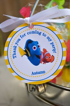 Finding Dory Favor Tags Finding Nemo Favor by 3TrucksAndATiara