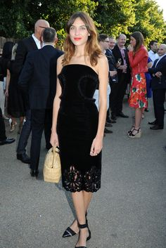Alexa Chung attends the Brioni Sponsors Serpentine Gallery's Annual Summer Party.