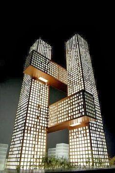 Cross Towers by BIG, Seoul, Korea