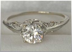 Vintage wedding ring wedding, man is that so simple and so beautiful