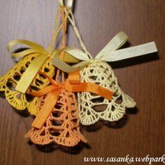 zlute_zvonecky Diy Crochet, Crochet Earrings, Christmas Ornaments, Knitting, Decor, Pizza, Contemporary, Winter, Image