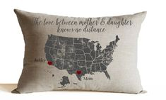 Pillow Cover -Love Between Mother Daughter -Mother's Day Gift -Birthday…