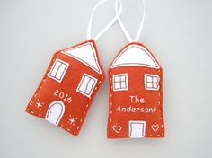 Personalized family ornament Gingerbread by FishesMakeWishesHome