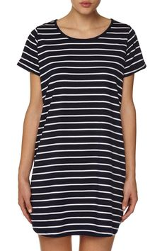 tina tshirt dress, MADI STRIPE INDIGO NAVY/WHITE