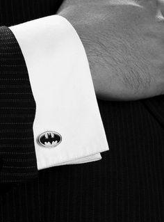 Batman cufflinks. I want these so bad.