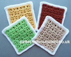 Free crochet pattern for afghan square http://patternsforcrochet.co.uk/afghan-square-usa.html #patternsforcrochet