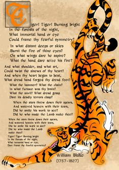 One of my favorite poems, the tyger by William Blake - Google Search