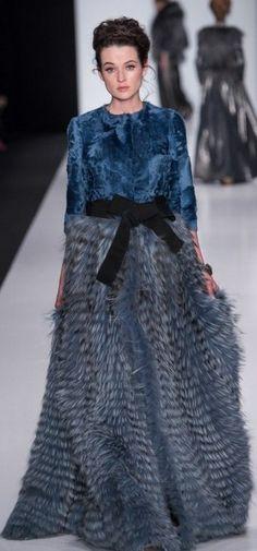 Russian-style fur coat. Igor Gulyaev, a fashion designer from Moscow. F/W 2014-15.