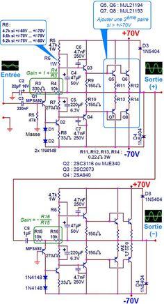 circuit diagram 3000w audio amplifier 200 watt audio amplifier circuit diagrams 3000w stereo power amplifier circuit | hubby project ...
