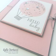 Kylie Bertucci | Addicted to CAS Challenge - Click on the picture to see more of Kylie's designs. #stampinup #handmadecard #handmade #kyliebertucci #CAS #addictedtocleanandsimple #babycard