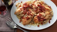 It's almost hard to believe that something that tastes this good and looks this impressive can be this easy — but it's true. Sautéed chicken breasts are nestled in a wine-infused mushroom sauce and finished with a generous topping of crispy prosciutto for a showstopping dinner that's easy enough for any day of the week.
