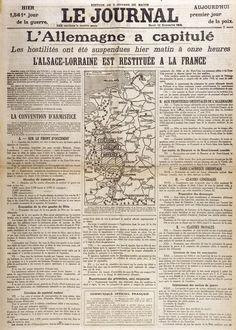 La signature de l'armistice du dossier « L'armistice du 11 novembre 1918