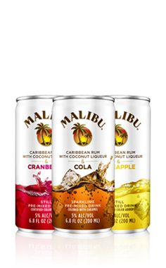 - Malibu Rum: 4 packs that I can drink and NOT ruin my night or morning after!!!