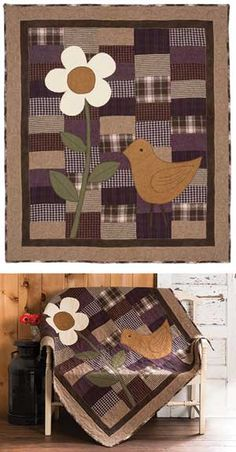 HARDWICK'S CHICK QUILT KIT - great idea for adding sparkle to a simple quilt