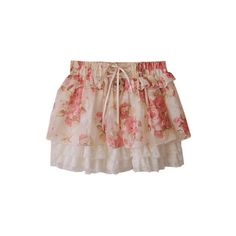 Lace Flower Skirt ($41) ❤ liked on Polyvore featuring skirts, mini skirts, bottoms, saias, flower skirt, fitted skirt, floral print skirt, elastic waistband skirt and slimming skirts