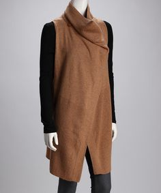 Take a look at this Cullen Caramel Cashmere Vest by Cullen & Love Token on #zulily today!