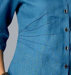 Pin tuck – In sewing, a tuck is a fold or pleat in fabric that is sewn in place. Small tucks, especially multiple parallel tucks, may be used to decorate clothing or household linens. When the tucks are very narrow, they are called pintucks or Pin-tucking.